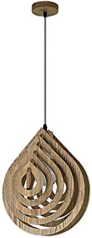 Mogicry Wassertropfen Form Einstellbare Pendelleuchten Retro Holz Kronleuchter Holz Cafe Bar Deckenleuchten Laterne E27 Edison Hngelampen Leuchte Für Restaurant Wohnzimmer