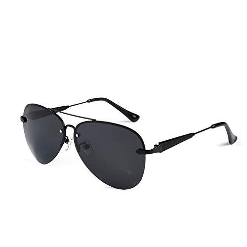 klm Gafas de Sol polarizadas Unisex, Vidrio de visión Nocturna para Conducir con protección al 6% UVA UVB, Gafas de Sol con Marco de Metal Usado, para Conducir, Golf, Pesca
