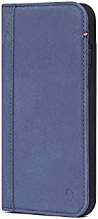 DECODED Wallet Case iPhone 8/7 / 6s / 6, Premium Full-Grain Leather with Elastic Closure + Impact Resistant Materials + 3 Card Storage, Wallet Case for iPhone 8/7 / 6s / 6 - Light Blue