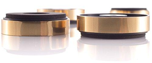 16x Hifi Lab Geräte-Füße 40x11 Gold Absorber Audio Füße 16 Stück