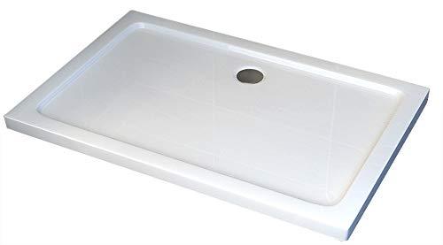 Duschtasse Duschwanne rechteckig - 100x90cm - inkl. Ablaufgarnitur