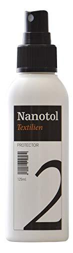 Nanotol Bombe Imperméabilisante Textile Nanotechnologique de haute qualitée (respirant, sans odeur, invisible et lavable), Spray Impermeabilisant chaussure et tous autres textiles (125 ml pour 2,5m²)