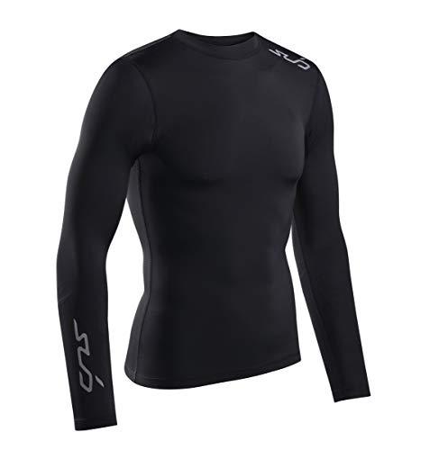 Sub Sports - Maglia a compressione a maniche lunghe, da uomo, taglia XXL, colore: nero