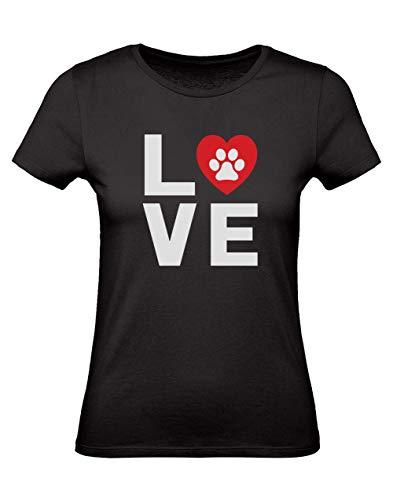 Green Turtle T-Shirts Camiseta para Mujer -Regalos Originales para Mujer - I Love Dogs Large Negro