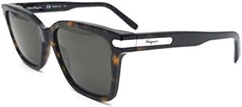 Salvatore Ferragamo Green Lens Sqaure Sunglasses