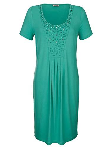 Alba Moda Strandkleid mit verziertem Ausschnitt Smaragd