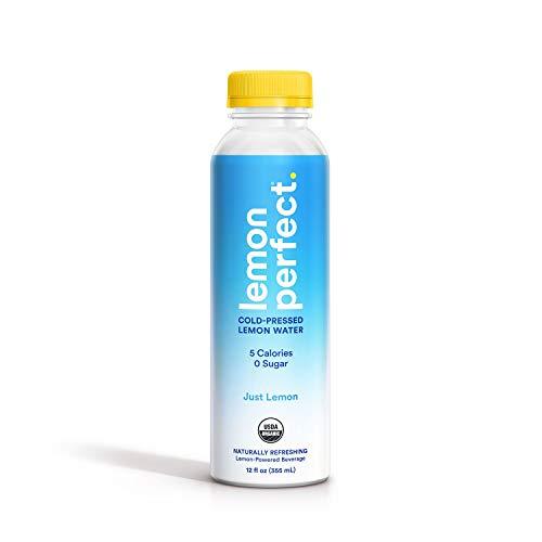 Lemon Perfect, Organic Cold-Pressed Lemon Water, Just Lemon, Full of Flavor, Hydrating Electrolytes, Essential Antioxidants, Zero Sugar, 100% Vitamin C, Keto Certified