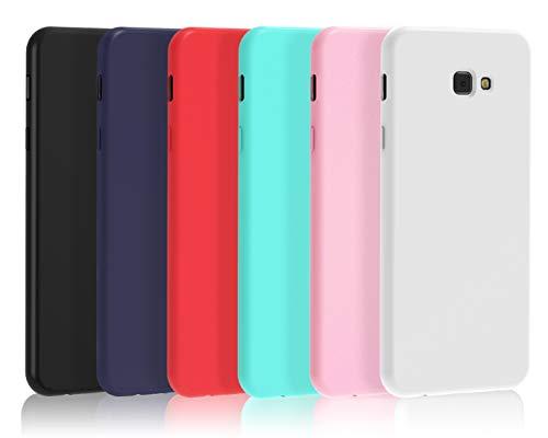 VGUARD [6 Pack] Cover Compatibile con Samsung Galaxy J4 Plus 2018 / J4+ 2018, Ultra Sottile Silicone Custodia Morbido TPU Case Protettivo Gel Cover (Nero, Blu Scuro, Rosso,Verde, Rosa,Trasparente)