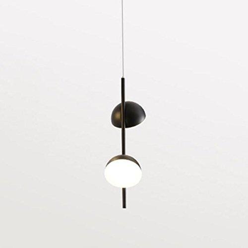 GLJXG Plafonnier Lustre mené créatif Noir pour Le Salon/Chambre à Coucher/Barre/étude, Source Lumineuse: Lumière Chaude Lumière pendante (Couleur : 1 Lights)