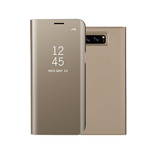 Aursen Custodia Samsung Note 8 Cover a Specchio Samsung Galaxy Note 8 Ideale per porteggere Telefono - Oro