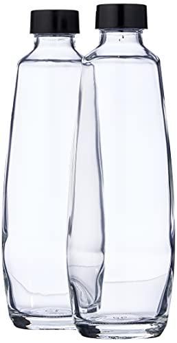 sodastream DuoPack - Botellas de Cristal de Repuesto para gasificador de Agua Duo (2 x 1 l, 10 x 19,5 x 29 cm), Color Negro