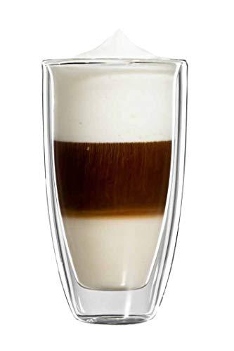 bloomix Roma Latte Macchiato Grande 350ml, doppelwandige Thermo-Kaffeegläser im 2er-Set