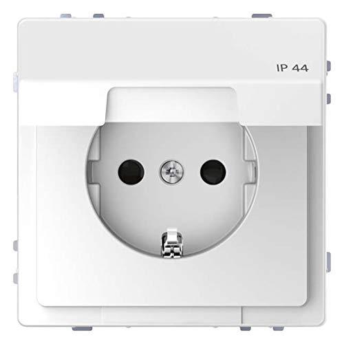 Merten stopcontact SCHUKO lotuswit systeem ontwerp, 71 x 71 mm
