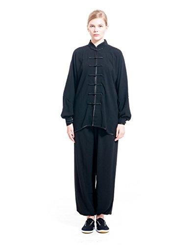 ICNBUYS Mujer Tai Chi Uniforme Algodón XXXL Negro