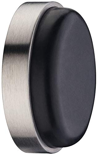 JUVA Wand-Türpuffer Aluminium silber Türstopper Gummi-Puffer rund - TP 5010 | Tiefe: 15 mm | Stopper für die Wand-Montage | MADE IN GERMANY | 1 Stück - Wandpuffer inkl. Befestigungsmaterial