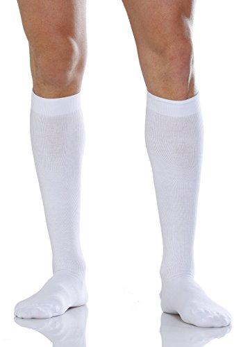 Relaxsan 920-new (Weiß, Gr.6) Kniestrumpf Unisex Baumwolle mit graduierter Kompression 22-27 mmHg