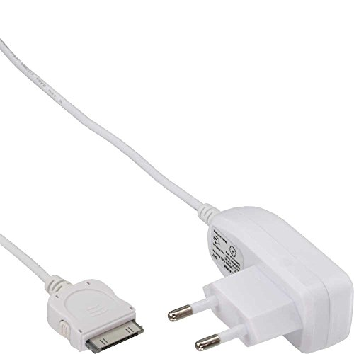 iPhone 3G/3Gs/4/4S Fuente Power Adapter, 100–240V–></noscript> 5V, 1000mA, Color blanco
