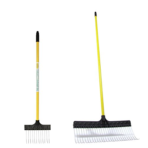 TRG Inc. The Groundskeeper II Leaf Rake 21-Inch with Deluxe Spot Rake 9.5-Inch (Bundle, 2 Items)