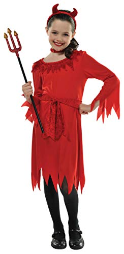 Christy's - Costume per travestimento da Diavoletto, Bambina, 8-10 anni