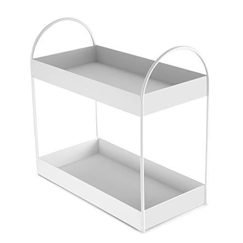 JSB 4-Tier Adjustable Shelving Unit, Heavy Duty Storage Rack Organizer Metal Corner Shelf for Kitchen Living Room Laundry Pantry Bathroom (White, 4 Tier)…