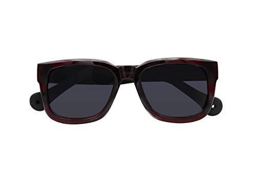 Parafina - Gafas de Sol Polarizadas para Hombre y Mujer - Gafas de Sol Oversized Anti-reflejantes Ruby Volcano - Lentes Negras
