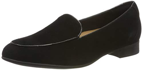 Clarks Damen Un Blush Ease Slipper, Schwarz (Black Sde), 38 EU