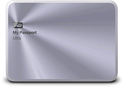 Western Digital 1TB silber My Passport Ultra Metal Edition tragbare externe Festplatte - USB 3.0 - WDBTYH0010BSL-EESN