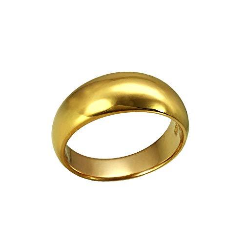 純金リング K24 月甲つきこうシンプル 上幅7.5mm 10g 高密度 オーダー 結婚指輪(18号)