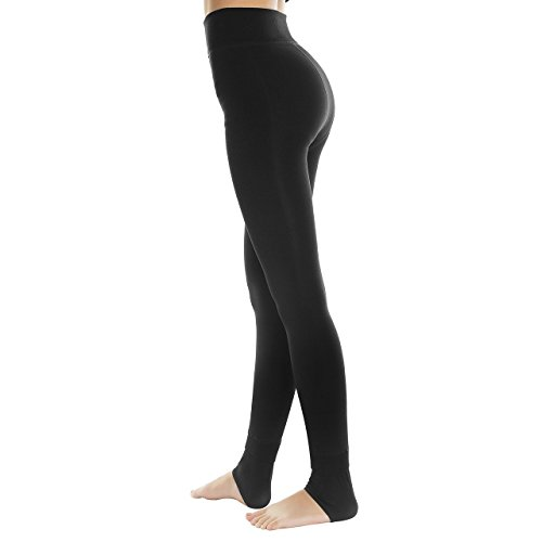 Middletone - Winter-Thermo-Leggings/Stretch-Leggings mit wärmendem Fleecefutter für Damen Gr. One size, Black 200