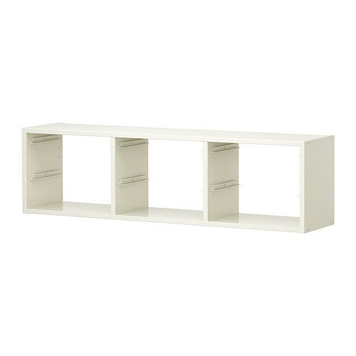 IKEA TROFAST Wandaufbewahrung in weiß; (99cm x 30cm)