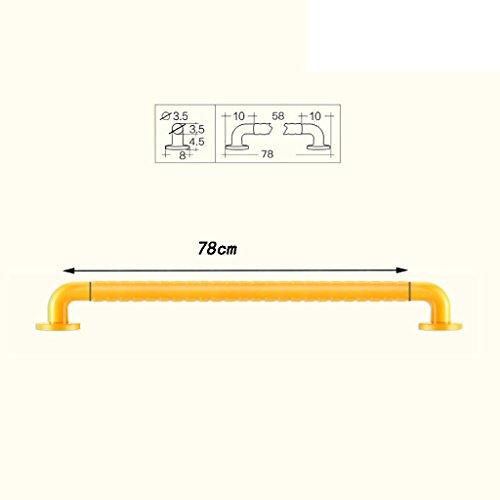 Yxsd Gelbes Edelstahl-Anti-Rutsch-Duschhandlauf, Duschwannen-Barrierefreies älteres Balancen-Griff-leuchtendes Warnlicht (größe : 78cm)