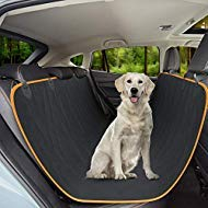 Active Pets Dog Back Seat Cover Protector Waterproof Scratchproof Hammock for Dogs Backseat Protection Against Dirt and Pet Fur Durable Pets Seat Covers for Cars & SUVs
