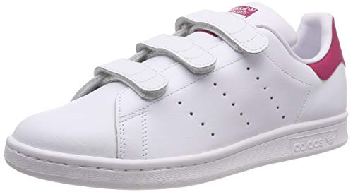 adidas Unisex-Kinder Stan Smith CF J Gymnastikschuhe, Elfenbein (FTWR White/FTWR White/Bold Pink), 35.5 EU