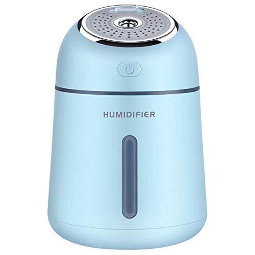 Haochide Multifunctionele luchtbevochtiger, mini-cool mist, luchtbevochtiger, met USB-fan, ledlicht voor slaapkamer, kantoor, baby, ultrasoon premium mini-luchtbevochtiger