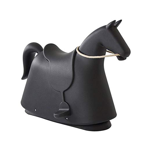 DUTUI Children's Fun Toys, Birthday Gifts for 3-7 Years Old Pony, Rocking Horse Playground Kindergarten Toy Rocking Chair, 71X50x95cm,Black