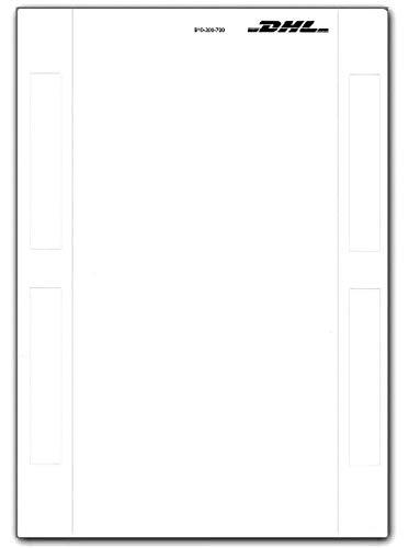 DHL Label Selbstklebende Paketscheine Adressaufkleber DHL Online Frankierung Aufkleber DHL Marken Versandetiketten Etiketten A5 Neu (200)