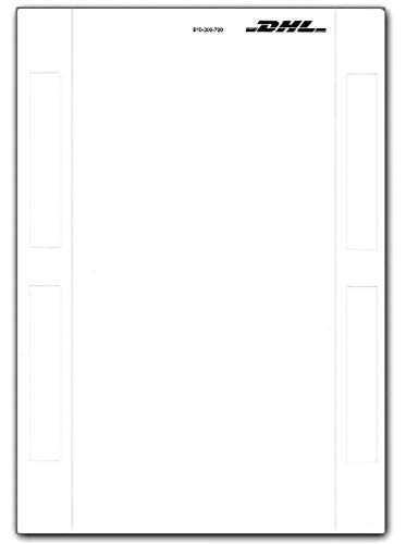DHL Label Selbstklebende Paketscheine Adressaufkleber Online Frankierung Aufkleber DHL Marken Versandetiketten Etiketten A5 Neu (200)