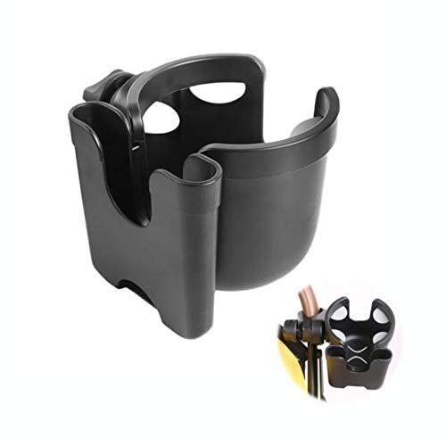 A/B Portavasos para Cochecito, portavasos Universal con rotación de 360 Grados, portabotellas 2 en 1 para Silla de Ruedas y Silla de Ruedas