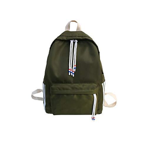 Neuer Rucksack Beiläufiger Normallack-Vertikaler Streifen-Rucksack-Wasserdichte Nylonhighschüler-Tasche 2 27 * 12 * 39Cm