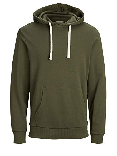 Jack & Jones Jjeholmen Sweat Hood Noos Capucha, Verde (Olive Night Fit:Reg Fit), Large para Hombre