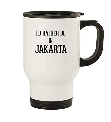 I'd Rather Be In JAKARTA - 14oz Stainless Steel Travel Mug, White