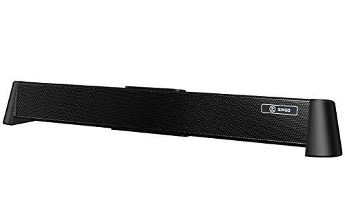 So& So&bar mit 20 W SIXGO 2.1 Kanal Kompakte TV 20 Zoll mit 6 EQ-Modi Bluetooth 5.0 für Film Musik Podcasts Ideal als TV Bluetooth PC Lautsprecher (20 Zoll, schwarz)