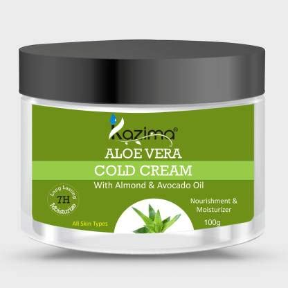 KAZIMA ALOE VERA COLD CREAM (100g) with Almond & Avocado Oil