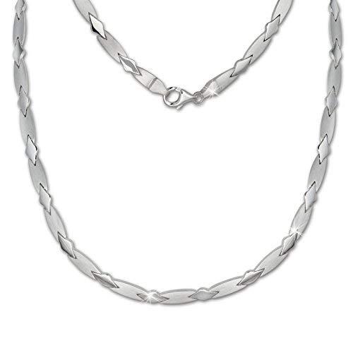 SilberDream Halsschmuck 45cm Collier Kette matt Muster 925er Silber SDK437J