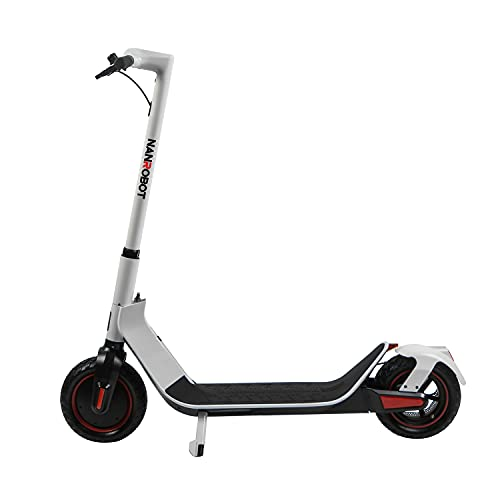 """NANROBOT X-Spark Business Electric Scooter for Adult Powerful 500W Motor MAX Speed 19MPH& 22 Miles MAX Range, 200lbs, 10"""" Rubber Air Tires One-Step Foldable Portable Commuter Electric Scooters"""