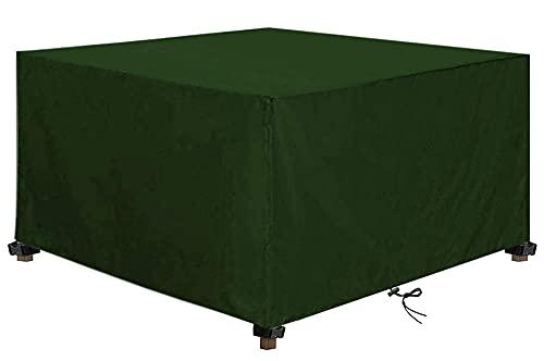 Funda Muebles Jardin, Impermeable Resistente al Polvo Anti-UV 420D Oxford Protección Exterior Muebles de Jardín Patio Cubierta de Mesa para Muebles
