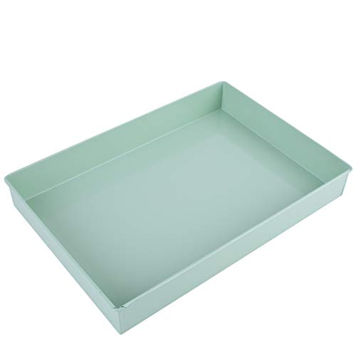 Dadeldo Home Tablett -Plain Color- rechteckig Metall 5x35x25cm Mint-grün Deko