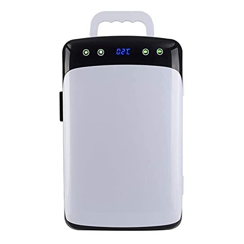Mini Nevera con Asa,Frigorífico Portátil 2 En 1 12 litros con Función De Refrigeración Y Calefacción, 12V   220V para Automóvil Y Hogar, Minibar Pequeño Camping con Control De Temperatura