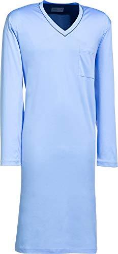 Novila Herren-Nachthemd Interlock-Jersey himmelblau Größe 58/60