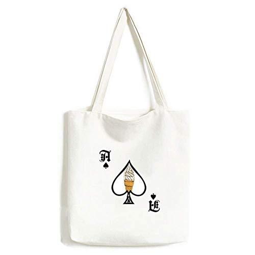 Bolsa de mano de helado con forma de conos de huevo de chocolate color crema, para manualidades, pala de póquer, bolsa lavable